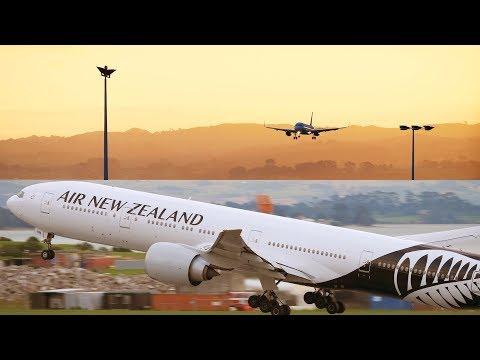 6 Air New Zealand Aircraft AT SUNSET | B777, B787, A320 | Auckland Airport Plane Spotting [4K]