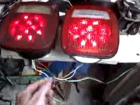 Jeep CJ5 LED conversion taillights - YouTube