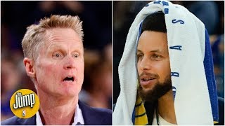 Reacting to Steve Kerr's comments about Steph Curry coming back this season | The Jump