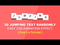 Css 3D Text Jumping Animation - Latest C