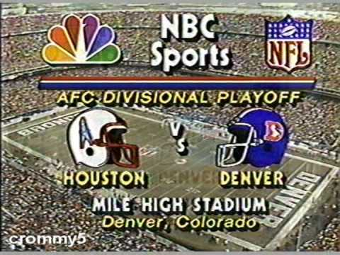 1988 NBC NFL AFC Divisional Playoff Open