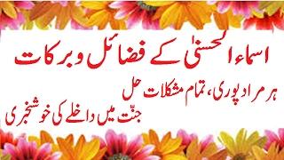 Asma ul Husna ki Fazilat /Har Hajat Poori/ Har Mushkil Hal/By Maulana Muhammad Asghar Abbasi