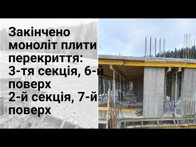 Фото з будівництва апарт-готелю Le Meandre. Початок травня 2021 року