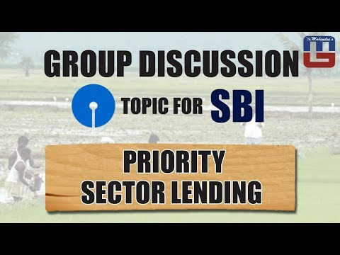 PRIORITY SECTOR LENDING | GD TOPIC FOR SBI  | GENERAL AWARENESS