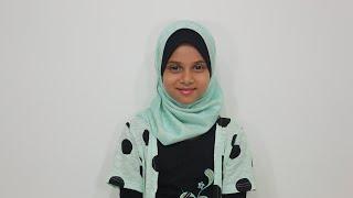 Maryam Masud is reciting surah Al-Qari'ah
