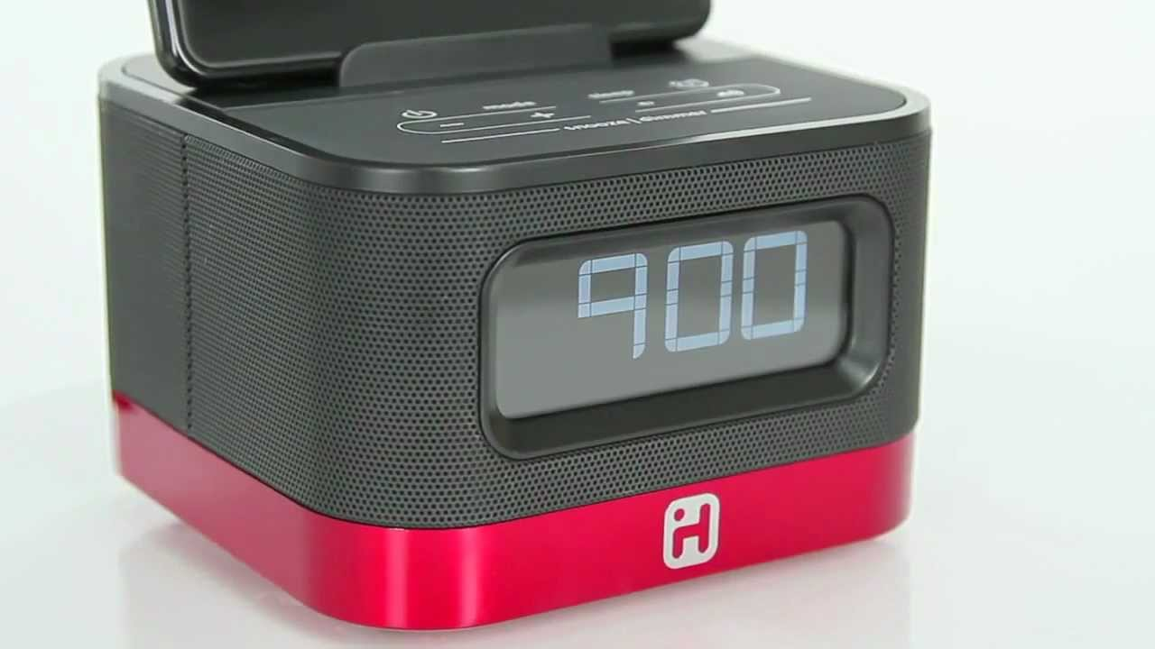 Ihome Ik50 Stereo Alarm Clock For Kindle Fire Youtube