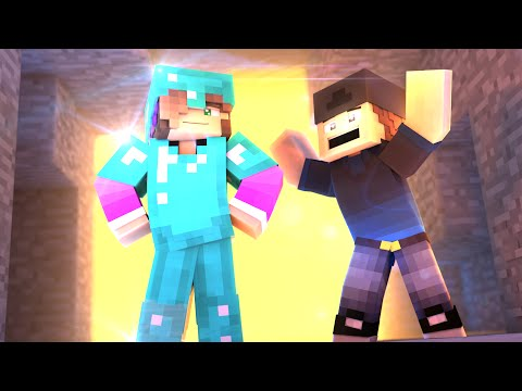 MINECRAFT GIRLFRIEND - FINDING DIAMONDS AND CRAFTING DIAMOND ARMOR! (Minecraft Love Survival)