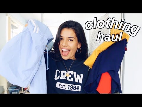 new year, new clothes: 2018 CLOTHING HAUL (try on)   Ava Jules