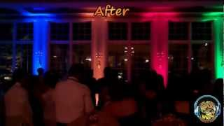 Decor uplighting at a Chicago area wedding reception