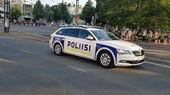 Trump's convoy in Helsinki, Finland