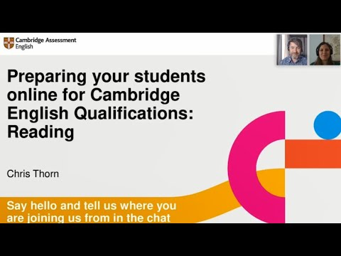 Preparing your students online for Reading papers in Cambridge English Qualifications