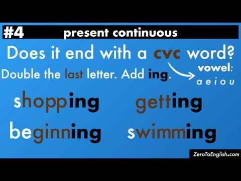Present Continuous Tense, Lesson 3: Spelling Rules