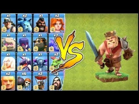 Clash of Clans : Barbarian King vs All Troops HD