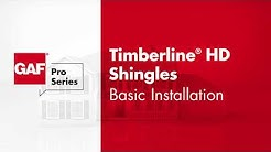 GAF Pro Series Timberline® Shingles Basic Install