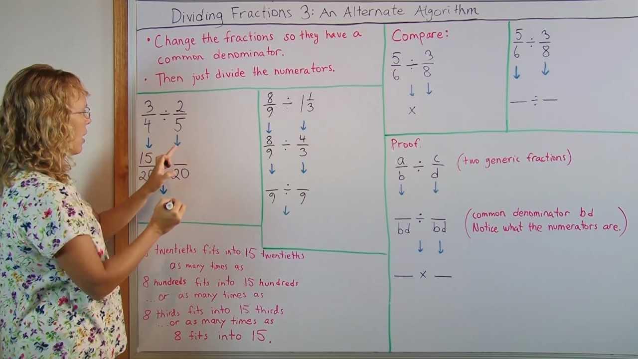 Divide Fractions: An Alternative Algorithm