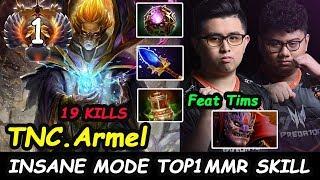 TNC Armel [Invoker] TOP1 MMR INSANE SKILL PLAY Feat Tims Dota 2 7.22H pro Gameplay