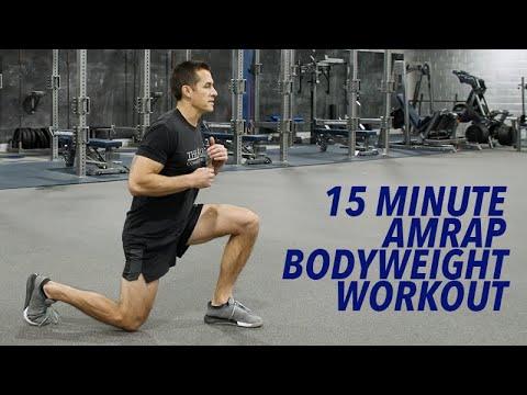 15 Minute AMRAP Bodyweight Workout