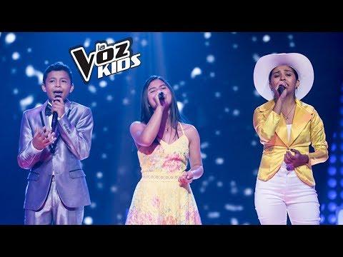 Luna, Mario Alejandro y Jireth cantan Oropel - Batallas   La Voz Kids Colombia 2018