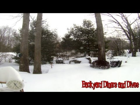 "Winter Storm Nemo Time Lapse Blizzard Manchester, New Hampshire 24"" of Snow  80 Seconds"
