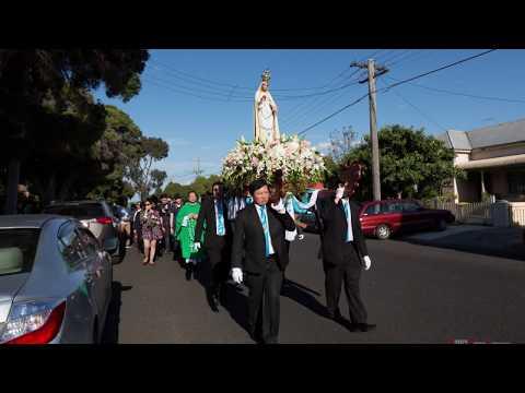 Rước kiệu Đức Mẹ Mân Côi tại giáo xứ Brunswick, Melbourne, Australia
