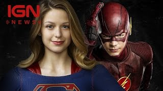 the flash supergirl crossover coming in march ign news
