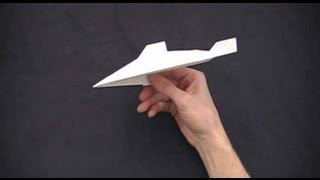 Trident paper airplane tutorial thumbnail