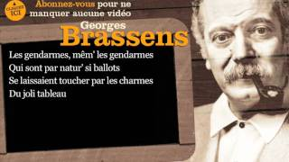 Georges Brassens  - Brave Margot - Paroles ( karaoke)