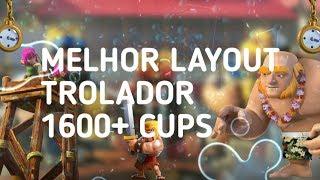 MELHOR LAYOUT CABANA DO CONSTRUTOR 1600 TROFÉU! Clash of clans.