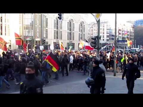 """Demozug (mit """"Antifa""""), 3.3.2018 Berlin, """"Wir für Deutschland"""" - Demo"""