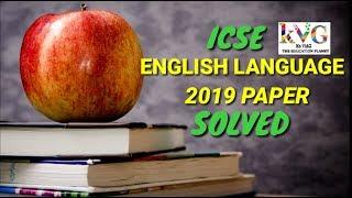 Icse 2019 english language specimen paper solved video clip
