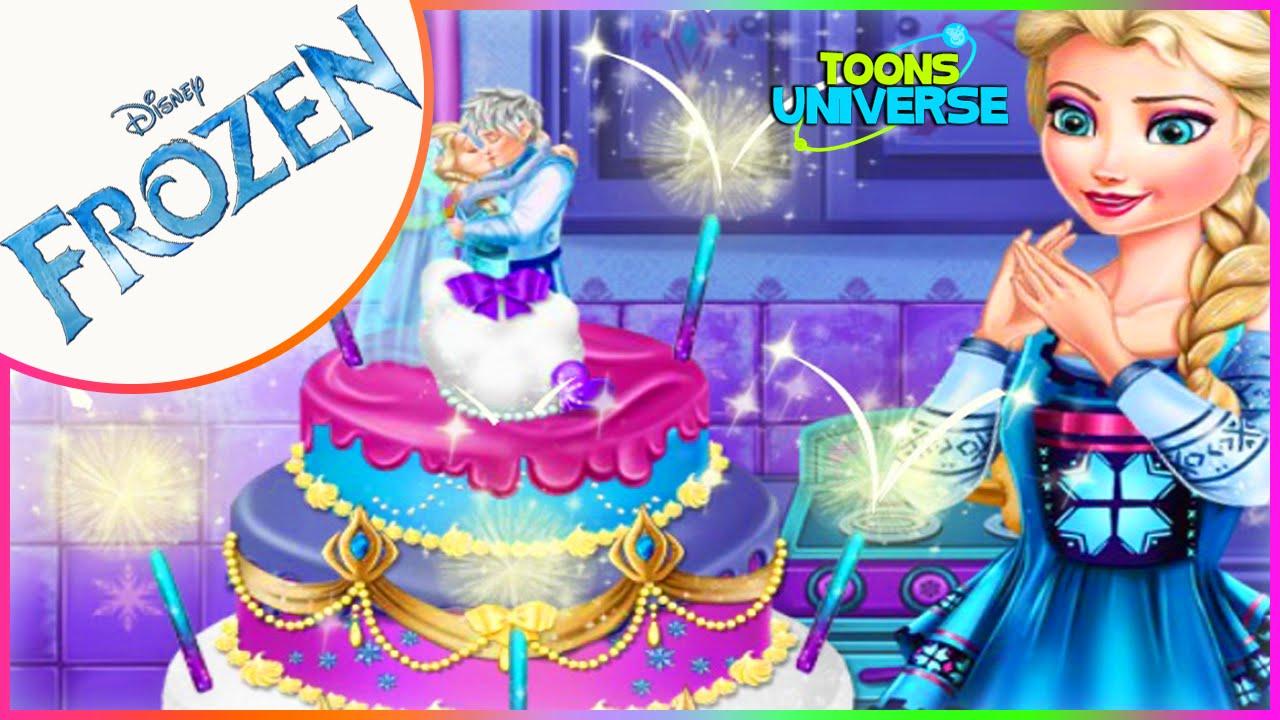 Disney Frozen Queen Elsas Wedding Cake Decorate Game for Girls