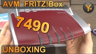 Unboxing/First Look: AVM FRITZ! Box 7490 (DSL+VDSL Router / WLAN 802.11ac / USB 3.0 / DECT Basis)