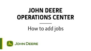 Operations Center - How to add jobs