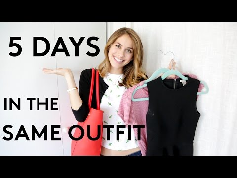 5 Days Of Wearing The Same Outfit | Try Living With Lucie | Refinery29