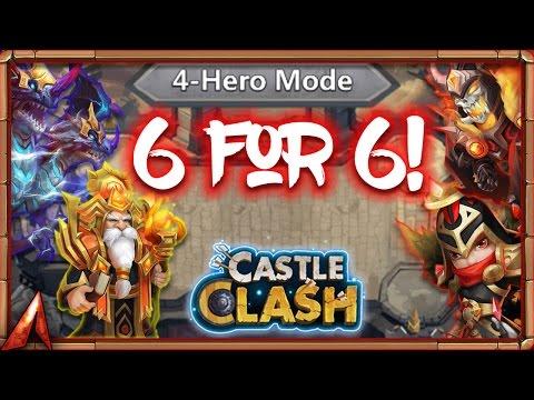 6 For 6 In Squad Showdown! Solid Team! Castle Clash