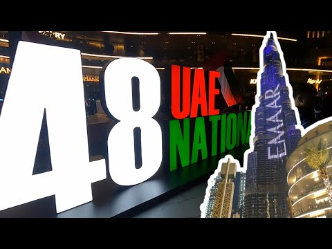 48 UAE National Day || Dubai Fountain || Dubai Mall Burj Khalifa