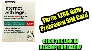Three 12GB Data Preloaded SIM Card