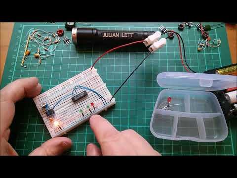 Make a Knight Rider Circuit on Breadboard