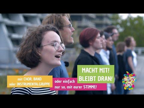 """Macht mit bei """"3. Oktober – Deutschland singt""""!"""