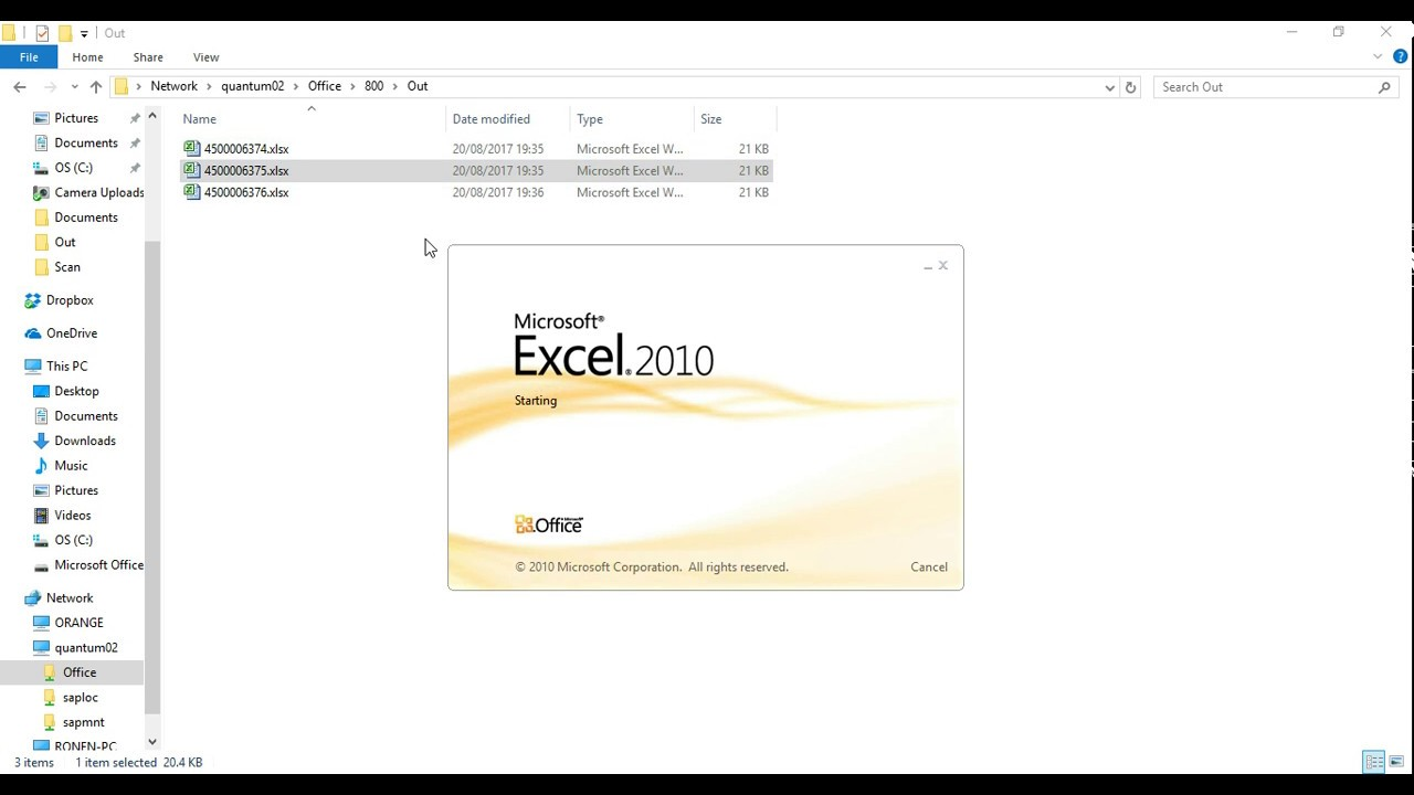 Update SAP purchase requisition from Excel