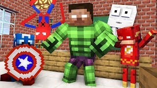 Monster School  Became A Superhero Challenge - Minecraft Animation
