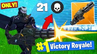 The MINIGUN *ONLY* CHALLENGE In Fortnite Battle Royale!