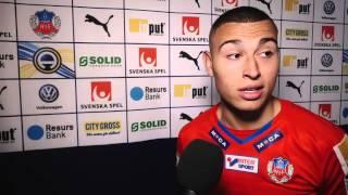 Jordan Larsson efter Helsingborg - AIK