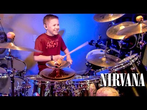 SMELLS LIKE TEEN SPIRIT (9 year old Drummer) Drum Cover by Avery Drummer Molek