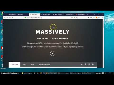 Video Pembuatan Website Download dan Implement Jekyll theme