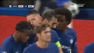 Gol Zappacosta Chelsea-Qarabag