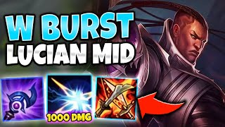 WIZARD LUCIAN MID ACTUALLY WORKS?! MASSIVE W POKE! - League of Legends