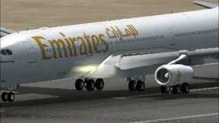 FS2004-EMIRATES A340-DUBAI TO ZURICH PART 1
