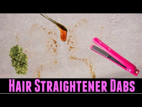 How To Make Rosin Dabs with Hair Straightener and Weed