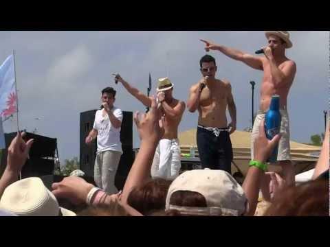 NKOTB Cruise 2012 Ship Faced Beach Party - Tonight